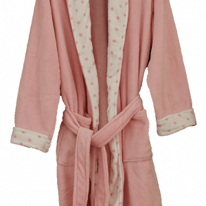 Coral Fleece Robe – Light Pink