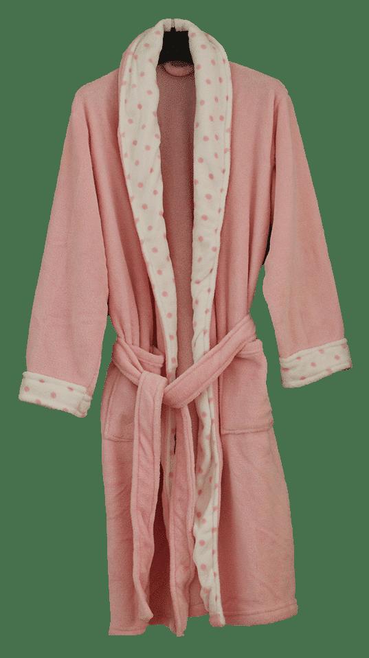 Coral Fleece Robe – Light Pink