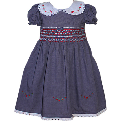 Smocked Dresses Navy Colour – Free Shipping