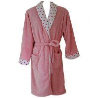 Coral Fleece Robe – Pink