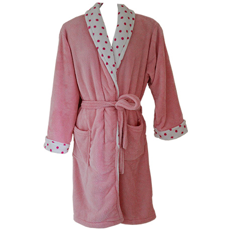 Coral Fleece Robe – Pink