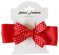Red Bow Hair Clip
