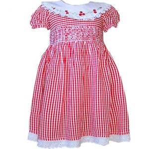 Red Checked Smocked dresses