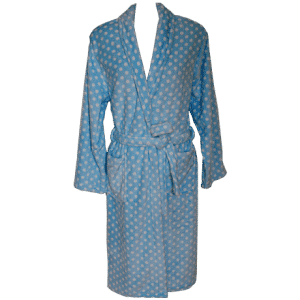 Super Soft Coral Fleece Robe – Elegant Blue
