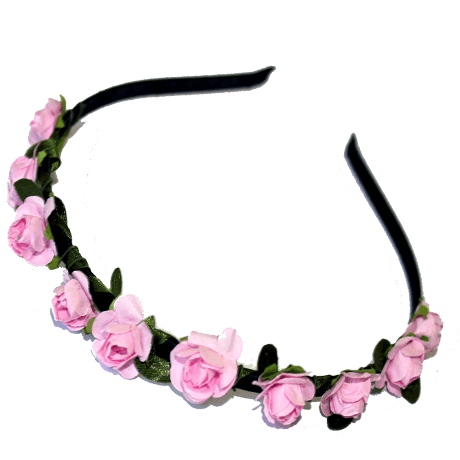 Paper Flower Alice Band – Pink