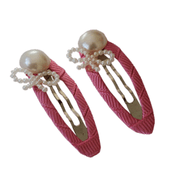 Rose Pink Hair Clips for Cute girls and kids