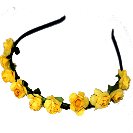 Paper Flower Alice Band – Golden Yellow