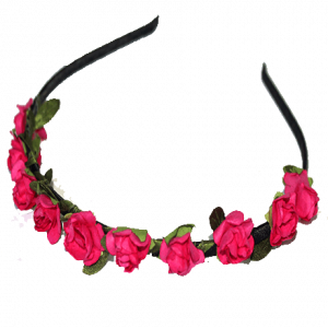 Paper Flower Alice Band – Rose Pink