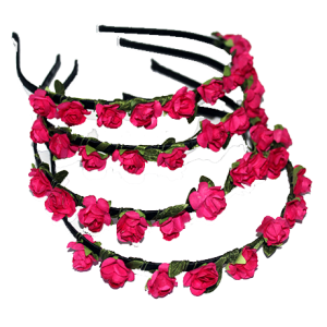paper flower alice band - rose pink