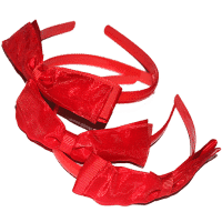 red alice bands with bow