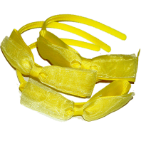 Alice Bands with Yellow Grosgrain Bow