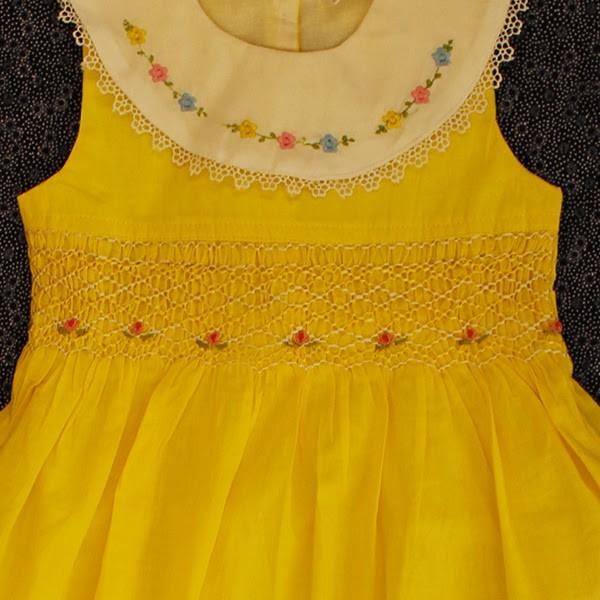 yellow smocked dress