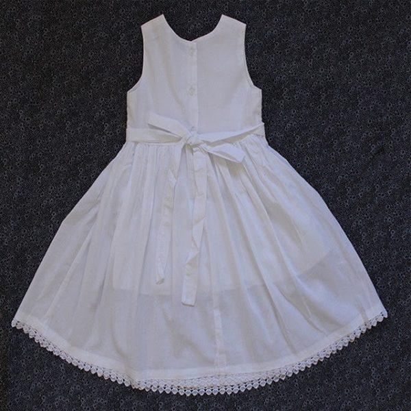 Smocked dress white sleevess