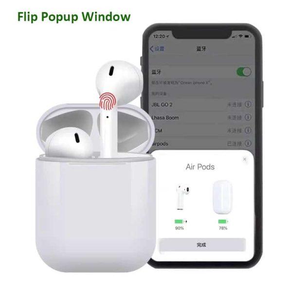 i12 TWS Flip Popup window