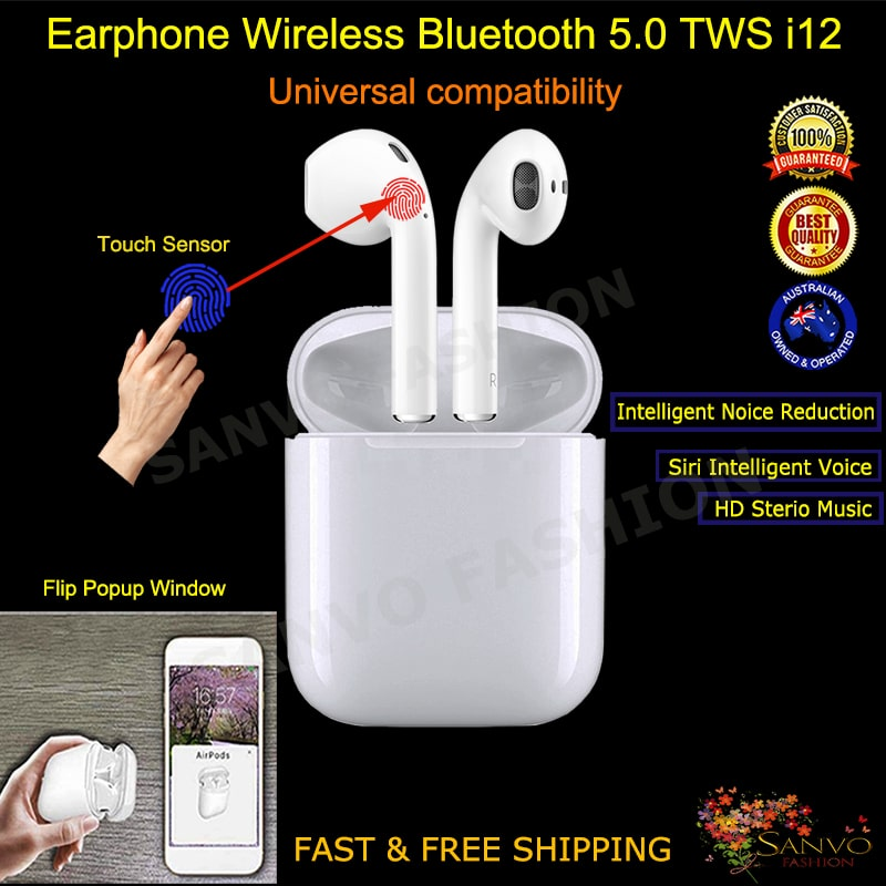 i12 TWS Earphones Earbuds for all smart Phones