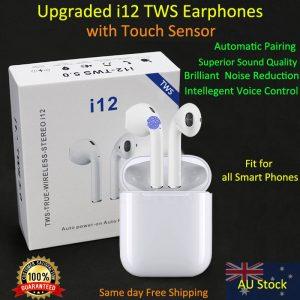 i12 TWS Earphones Earbuds for all smart Phones