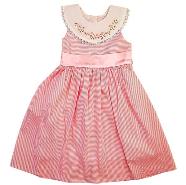 Sleeveless Pink Party Frock