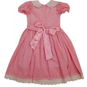 Girls Smocked Dress Pink Stripe