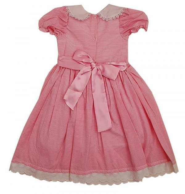 pinks Stripe Smocked dress
