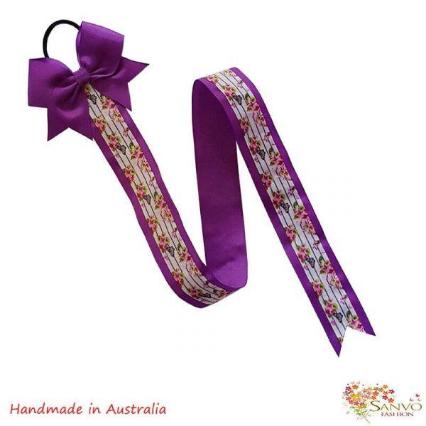 Hair Bow Clips Organiser Purple Colour