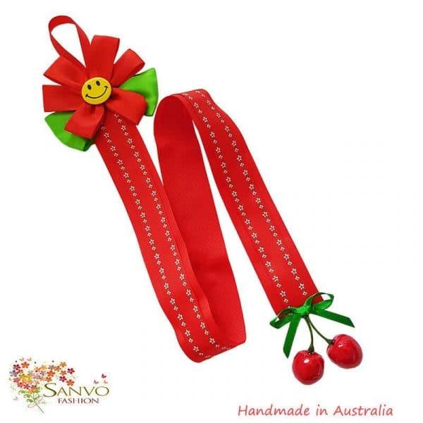 Hair Bow Clips Organiser - Red Colour