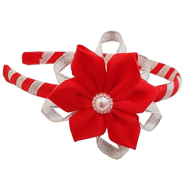 Alice band with red flower