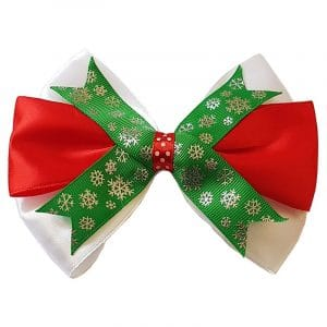 Red Green Christmas Bow