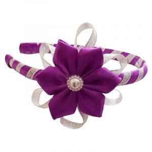 Alice Bank with Purple Satin Flower