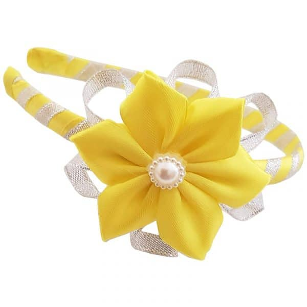 Alice Bank with Yellow Satin Flower