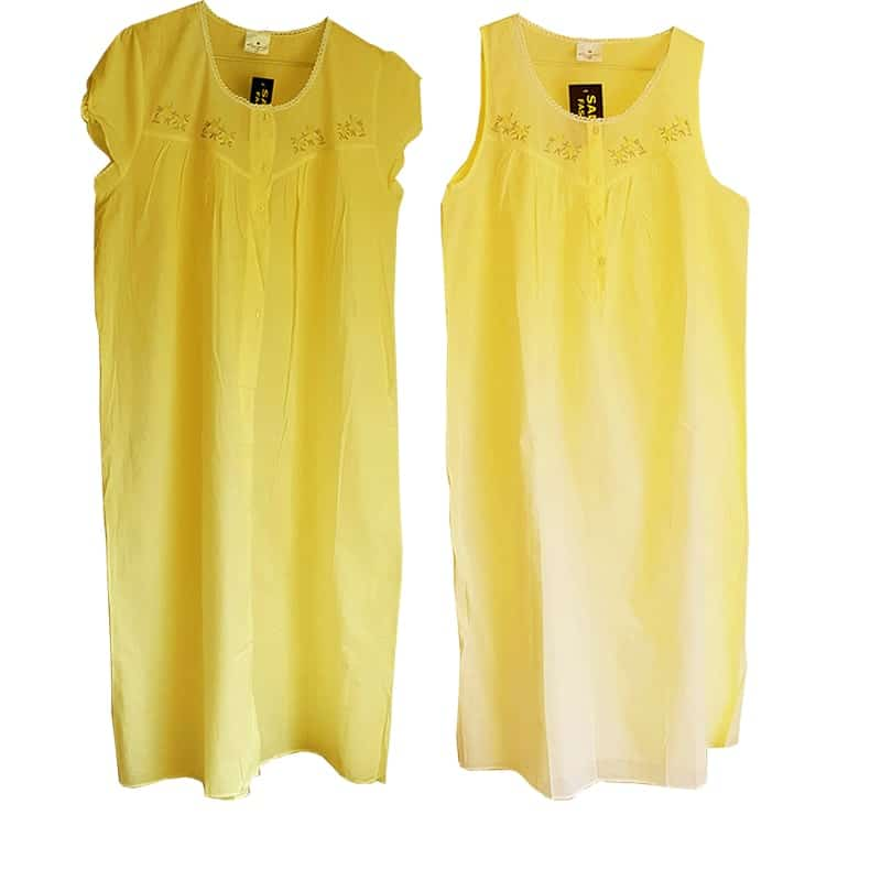 cotton nightdress Yellow